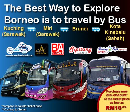Bus to kuching east coast malaysia